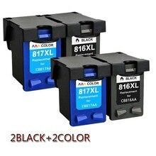 купить For HP816XL HP817XL Ink Cartridge 816XL 817XL For HP Deskjet D1468 D2360 D2368 D2468 3538 3558 3658 Printer по цене 1449.17 рублей