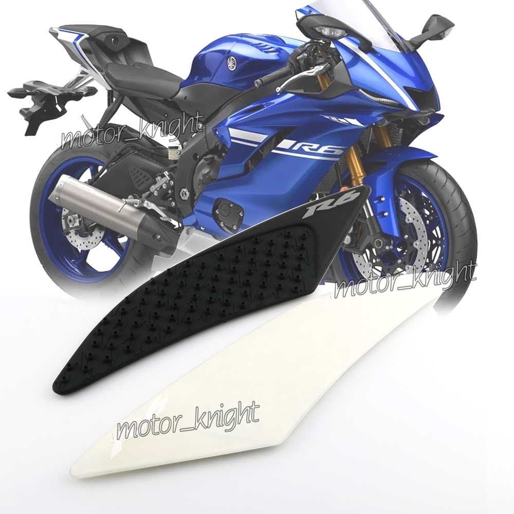 Motorcycle Tank Traction Side Pad Gas Fuel Knee Grip Decal For YAMAHA YZF-<font><b>R6</b></font> <font><b>R6</b></font> <font><b>2017</b></font> 2018 2019 image