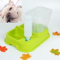 Moda Potable Alimentador Automático de Mascotas Perro Gato Ajustable Mascotas Gatos Perros Tazón Alimentador Perro Dispensador de Agua Para la Pequeña Mediium