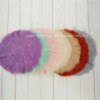 Newborn Baby Woolen Blanket Intersperse Blanket Basket Filler Curly Wool Blanket Flokati Baby Fotografia Backdrop Photo Props