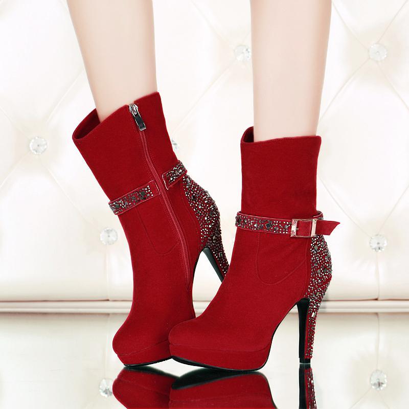 rojo Mujeres Delgados Cuero Zapatos Redonda Rojo Tobillo Mujer Rebaño Llegada 2018 Tacones Nueva Zip Negro Punta Sexy Negro f0Rx0BT