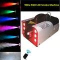 Atacado de alta qualidade LEVOU 900 W Máquina de Fumaça Mini 900 w RGB LEVOU Máquina de Fumaça Fase dj equipamentos de Efeitos Especiais