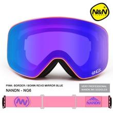 Новый nandn брендовые лыжные очки горнолыжные очки с двойными линзами UV400 Анти-туман взрослых сноуборд Лыжный Спорт Очки Для женщин Для мужчин снег очки