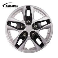 4pcs Set 12 Inch Black Car Wheel Hub Caps Universal Car Wheel Hub Cover Car Styling