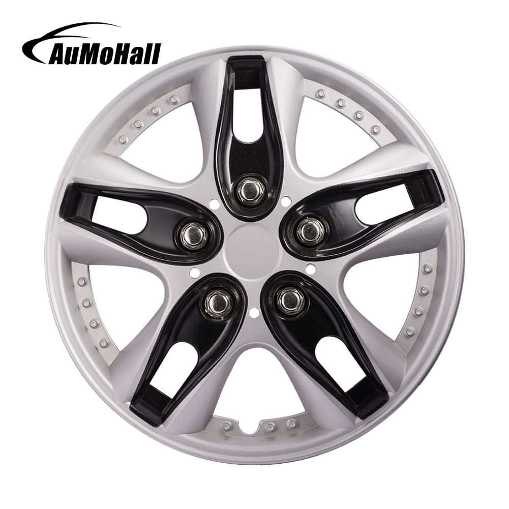 AuMoHall 4pcs/set 12 Inch Black <font><b>Car</b></font> <font><b>Wheel</b></font> <font><b>Hub</b></font> Caps Universal <font><b>Car</b></font> <font><b>Wheel</b></font> <font><b>Hub</b></font> <font><b>Cover</b></font> <font><b>Car</b></font>-styling image