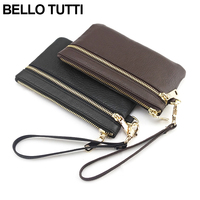BELLO TUTTI Fashion Large Capacity Women Wallets Long Genuine Leather Female Zipper Clutch Coin Purse Cowhide