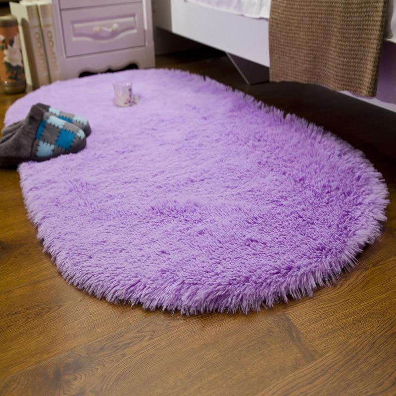 2017 New Oval Carpet Beautiful Floor Mat Modern Shaggy
