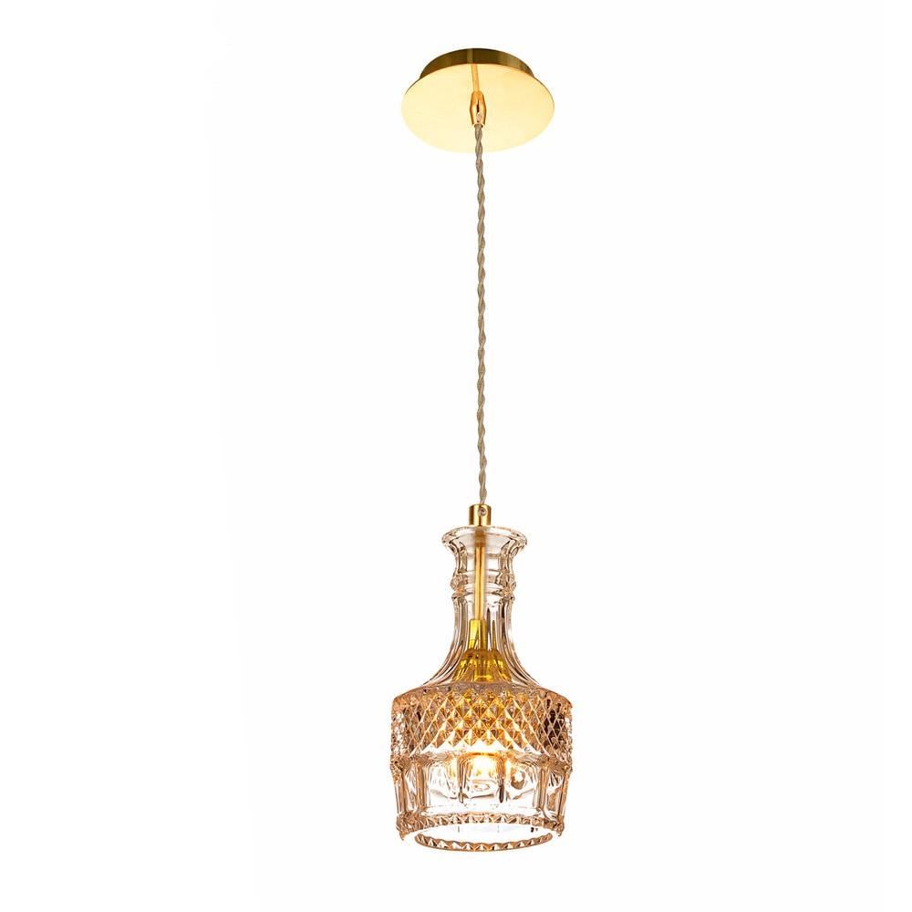 Minimalist Vintage Wine Bottle E27 Pendant Lights Modern CafeRoom/Bar Lamp Single Glass Pendant Lamps Decoration Indoor Lighting smad 28 bottle wine chiller cellar bar