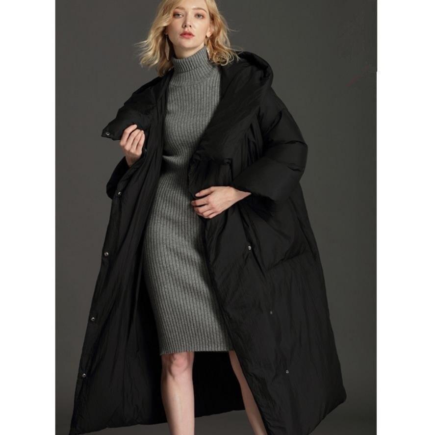 7XL plus taille 90% Blanc duvet de canard femmes manteaux en duvet 2018 d'hiver de mode épais solide à long haute qualité femelle vers le bas parkas gx1146