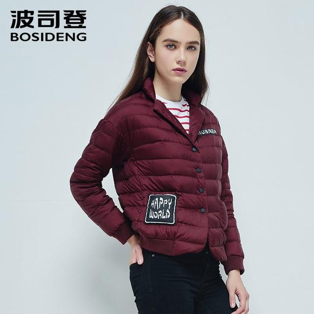 bosideng женскую одежду вниз куртки, пальто надрезан лацкан кнопку один breas ультралегкого верхней одежды b1401022