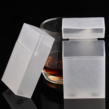 1pcs Transparent Portable Plastic Cigarette Case Wholesale Hold Soft Pack Can Put Cigarette Lighter Cigarette Box комод универсальный hold четырехсекционный англия plastic republic