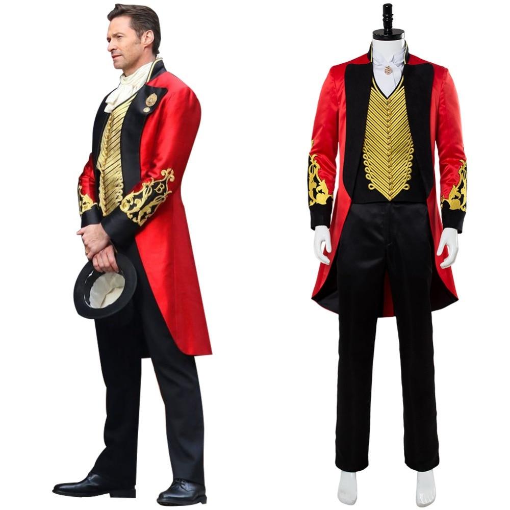 Le plus grand Showman P.T. Costume de Cosplay Barnum tenue hommes adultes Costumes de carnaval d'halloween sur mesure