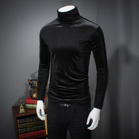 Quality Solid T Shirt Men Fashion Slim Fit Turtleneck Men S T Shirts Long Sleeve Winter