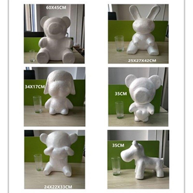 Шт. 1 шт. большой размеры моделирование пенополистирол пенопласт белый медведь заяц пены шары ремесла для DIY рождественские подарки вечерние вечеринок украшения