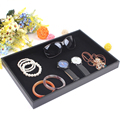 High Quality Black Jewelry Rings Display Plate Showcase Ring Case Earring Necklace Display Tray Jewelry Organizer Shelf Showcase