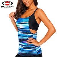 2019 New Women Striped One piece Tankini Top Female Round Neck Strap Single Piece Swimsuit Sling Hollow Backless Sexy Swimwear
