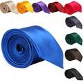 5 cm Classic Solid Color Normal Seda Flaco Lazos para Los Hombres Jacquard Tejida Corbata Corbata 20 Colores SHM