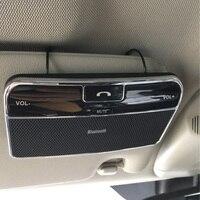 Drahtlose Bluetooth Car Kit Set Freisprecheinrichtung V4.0 Multipoint Sonnenblende Lautsprecher für Telefon Smartphones Auto Ladegerät