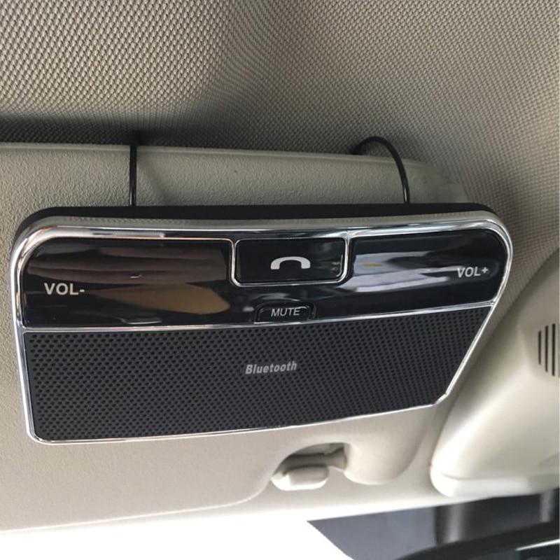 Wireless Bluetooth Car Kit Set Handsfree Speakerphone V4.0 Multipoint Sun Visor Speaker for Phone Smartphones Car Charger 2017 newest stereo bass car kit wireless bluetooth 4 1 edr music receiver speaker speakerphone handsfree auto charger for phone