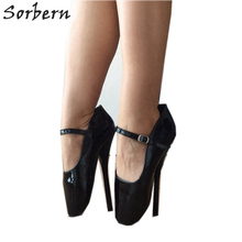 Sorbern Mary Janes Ballet Stilettos High Heel Women Pumps Shoe Lady Custom  Colors Size 10 Shoes