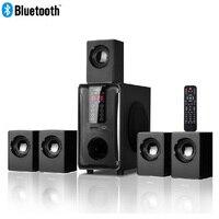 5,1 канала Колонка для домашнего кинотеатра системы, Bluetooth \ USB SD FM Радио удаленного сенсорная панель управления, Dolby Pro Logic Surround Sound