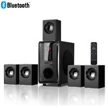5,1 канала Колонка для домашнего кинотеатра системы, Bluetooth  USB SD FM Радио удаленного сенсорная панель управления, Dolby Pro Logic Surround Sound