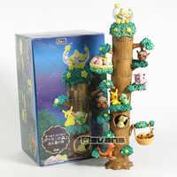 Monsters Wald Schießen Star Night Vol.2 Jirachi Togepi Caterpie Mimikyu Eevee Charmander PVC Figuren Spielzeug 8 teile/satz
