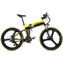 XT750S Intelligent 5 Level Assist 26 Folding Electric Bike 27 Speed Hydraulic Disc Brake 400W Motor