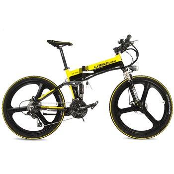 XT750S Intelligent 5 Level Assist 26 Folding Electric Bike 27 Speed Hydraulic Disc Brake 400W Motor