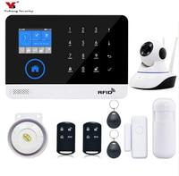 YobangSecurity APP Control RFID Wireless WIFI GSM Home Burglar Security Alarm System Smoke Sensor Detector Video IP Camera