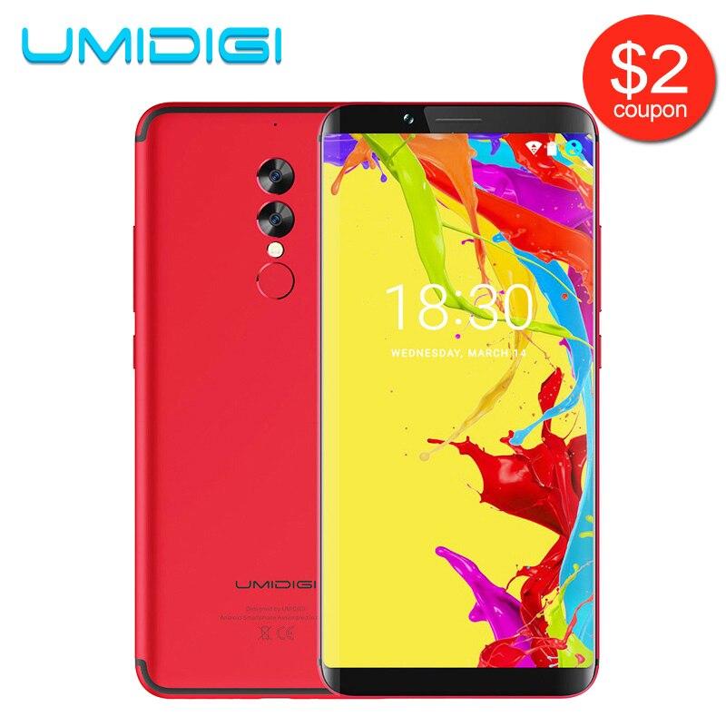UMIDIGI S2 Lite 18:9 полный Экран смартфон Face ID 32 ГБ Встроенная память 16MP + 5MP Камера 5100 мАч Dual SIM android 7,0 4 г LTE мобильный телефон