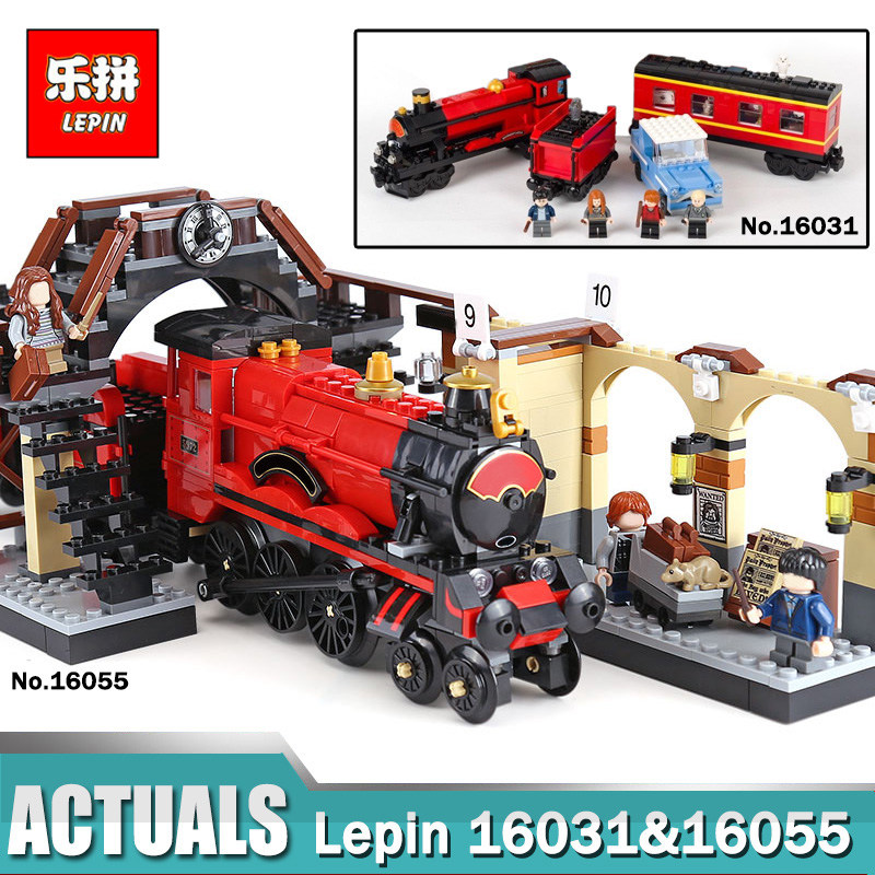 Lepin 16031 16055 Harry's School Potter Hogwarts Express Set compatible Legoing 75955 Train Building Blocks Toys Christmas Gift