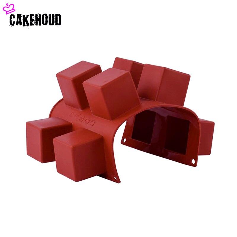 CAKEHOUD 8 löcher Kleine Quadratische 3D Form Nicht-stick Silikon - Küche, Essen und Bar - Foto 4