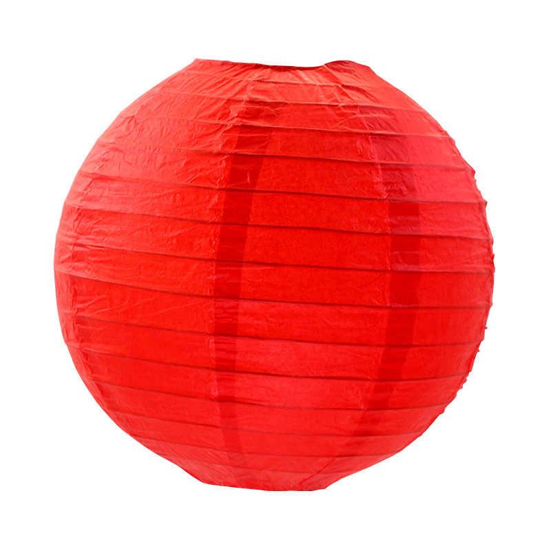 Chất Lượng cao 7.5 CM Trắng Trung Quốc Giấy đèn cốc Đèn Lồng Vòng Giấy Đèn Lồng Wedding Party Treo Trang Trí Nội Thất Ủng Hộ Gửi 80 M dòng