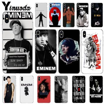 Yinuoda Hop Rapper Eminem rap Smart Cover Soft Shell Phone Case for Apple iPhone 8 7 6 6S Plus X XS MAX 5 5S SE XR Cellphones image