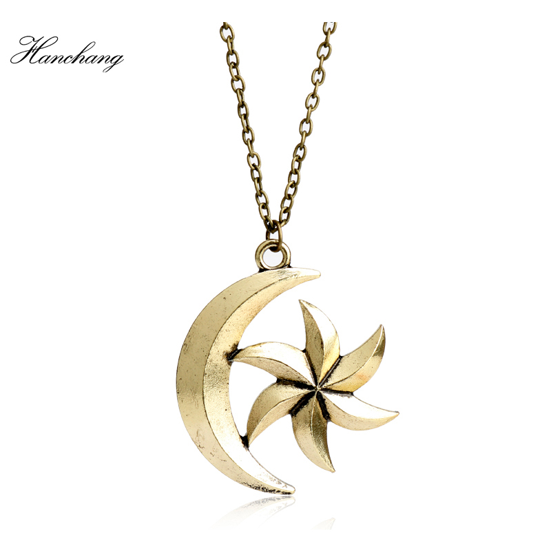 Hanchang Горячая игра Jewelry The Elder Scrolls V Moon Star Ожерелья для мужчин Skyrim динозавр кулон Цепочки и ожерелья Для женщин Для мужчин Талисманы подарок