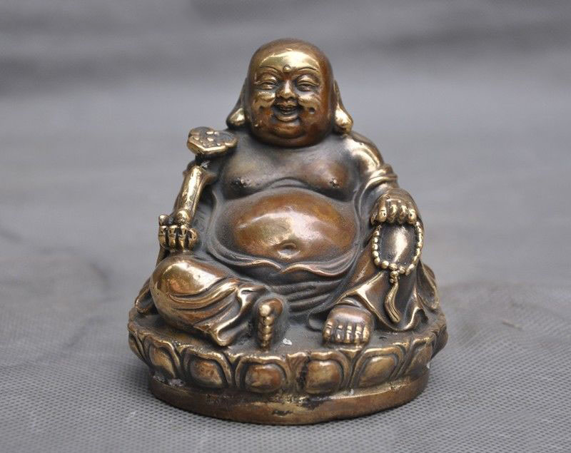 wedding decoration 4Chinese Buddhism Auspicious Bronze Ruyi Lotus Laughter Maitreya Buddha Statuewedding decoration 4Chinese Buddhism Auspicious Bronze Ruyi Lotus Laughter Maitreya Buddha Statue