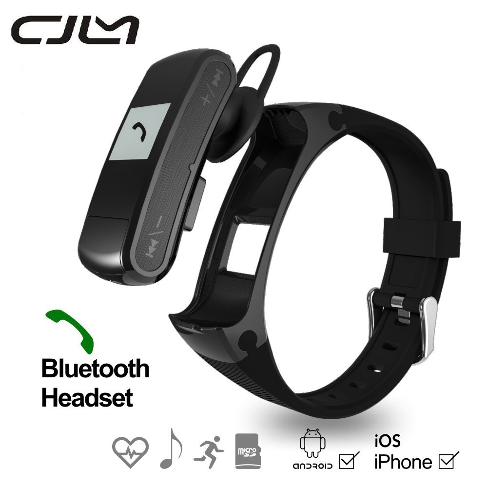F50 Smart Bracelet Bluetooth Earphone Fitness Tracker Pedometer Smartwatch Sport Heart Rate Monitor Smart Band For Android IOS