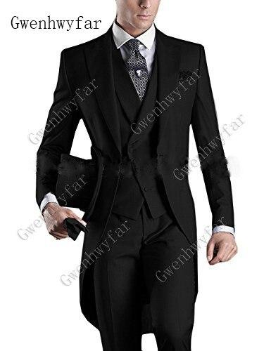 Italian-Men-Tailcoat-Gray-Black-White-Wedding-Suits-For-Men-Groomsmen-Suits-3-Pieces-Peaked-Lapel (2)