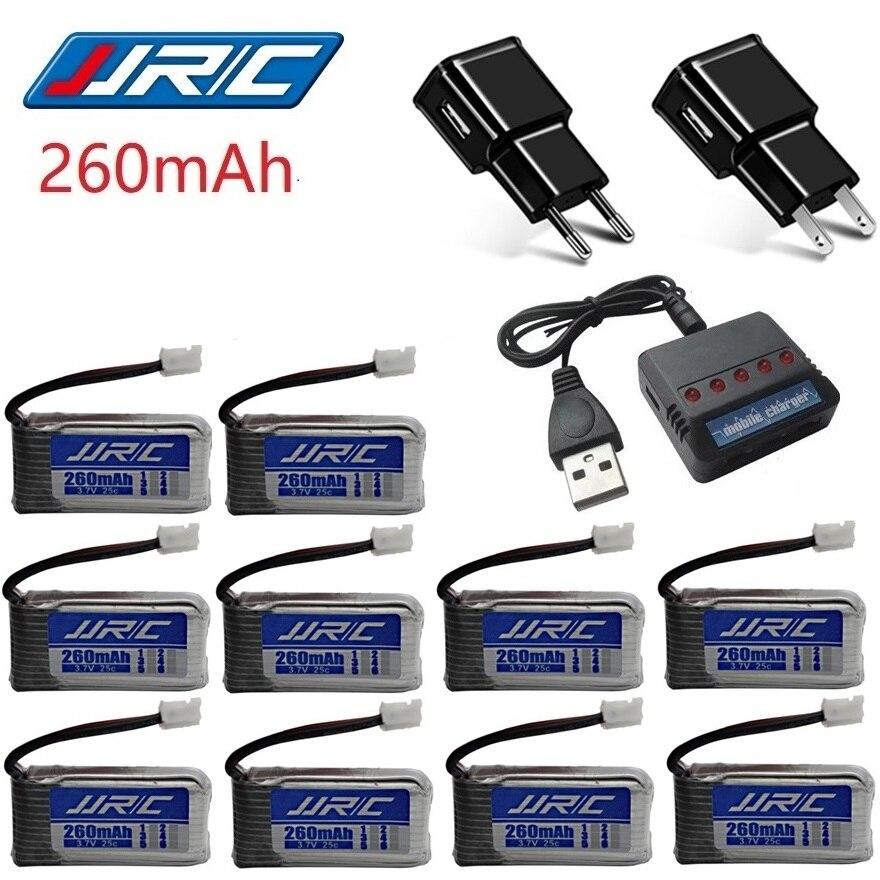 JJRC H36 Original de la batería de 3,7 V 260 MAH para Eachine E010 E011 E012 E013 Furibee F36 RC Quadcopter piezas de 3,7 V Lipo batería 10 piezas