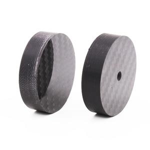 Image 4 - Hi End Black Carbon Fiber Speaker Isolation 40x15mm 25x5mm 30X10mm 50X20mm Base Pad Shoe Feet Hifi audio Amp cone speaker pad