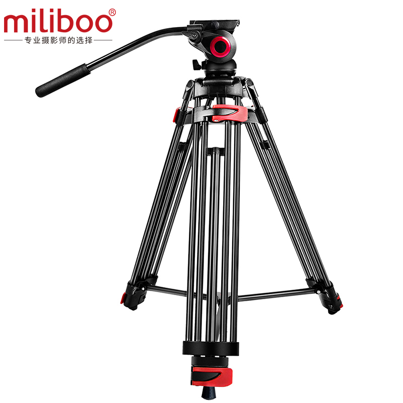 miliboo MTT602A Professional Portable Aluminum Fluid Head Camera Tripod for Camcorder DSLR Stand Video Tripod 70