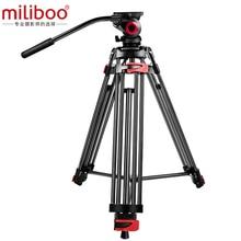"""Miliboo MTT602A Professionelle Tragbare Aluminium Flüssigkeit Kopf Kamera Stativ für Camcorder/DSLR Stehen Stativ 70 """"Max Höhe"""