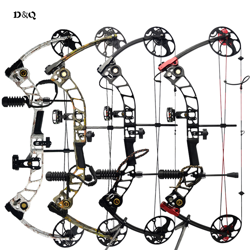 цены 19-70lbs Hunting Compound Bow Set with Complete Archery Shooting Practice Accessories Left Right Hand Competition Slingshot Bow