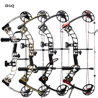 19 70lbs Hunting Compound Bow Set with Complete Archery Shooting Practice Accessories Left Right Hand Competition Slingshot Bow