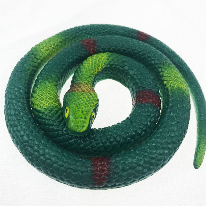 6/' Green Rubber Snake for Fun