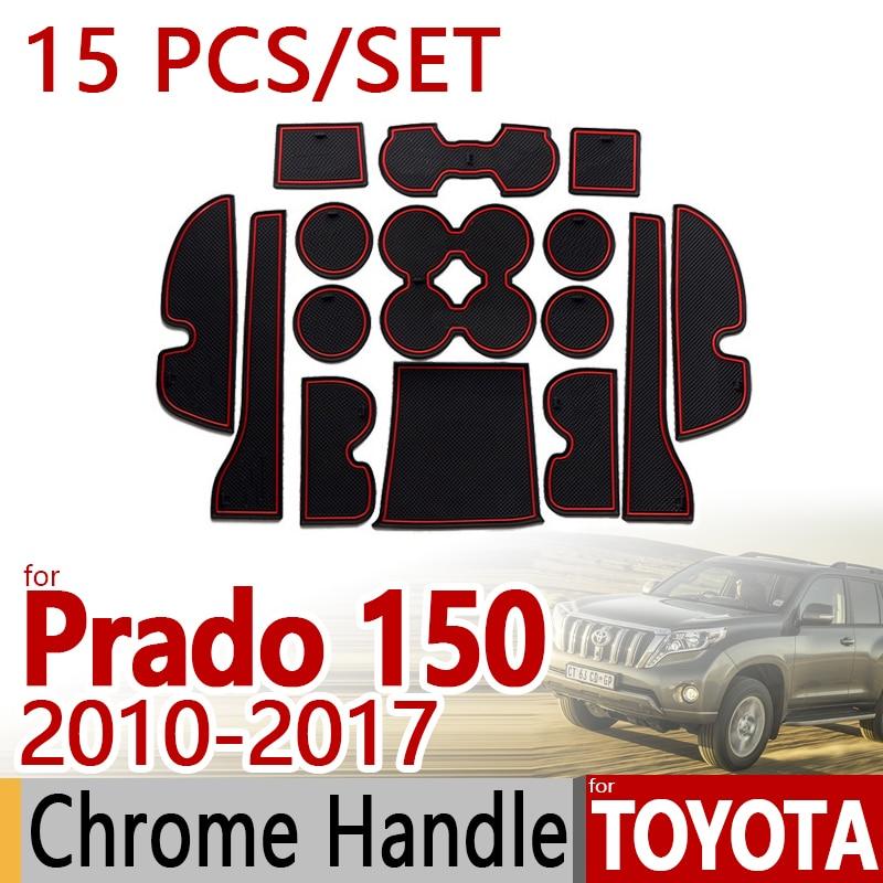 for Toyota Land Cruiser Prado 150 Anti-Slip Rubber Cup Cushion Door Mat 15pcs LC150 J150 FJ150 Accessories Car Styling Sticker 3m oem car body sticker for toyota land cruiser prado fj 150 accessories