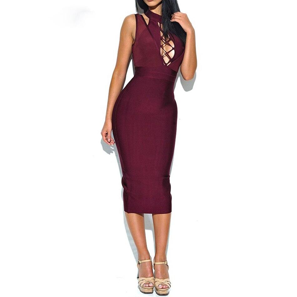 Adyce 2018 Νέο φόρεμα για το καλοκαίρι Bandage - Γυναικείος ρουχισμός - Φωτογραφία 4