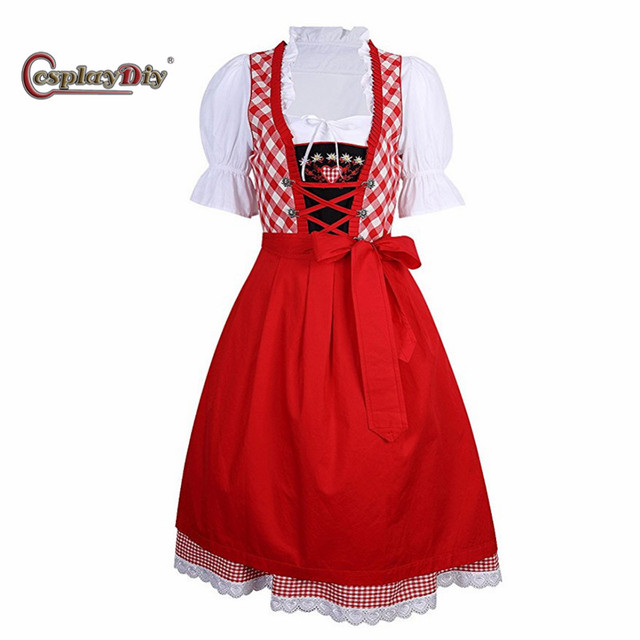 Cosplaydiy German Beer Girl Costume Maid Fancy Dress Cosplay Sexy