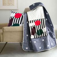 Europa Algodão Almofada Colcha Multifuncional Ar Condicionado Travesseiro Almofada Do Sofá Do Escritório Travesseiro Dos Desenhos Animados Ar Condicionado Cobertor